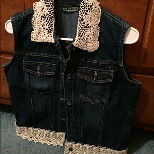 New Direction Blue Jean Vest